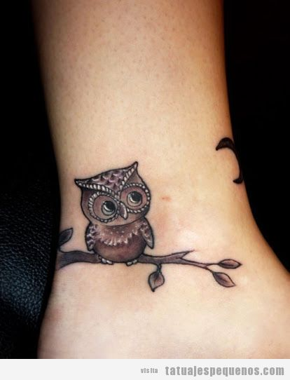 Búho | Tatuajes pequeños | Tatoos pequeños y bonitos para chicos y ...