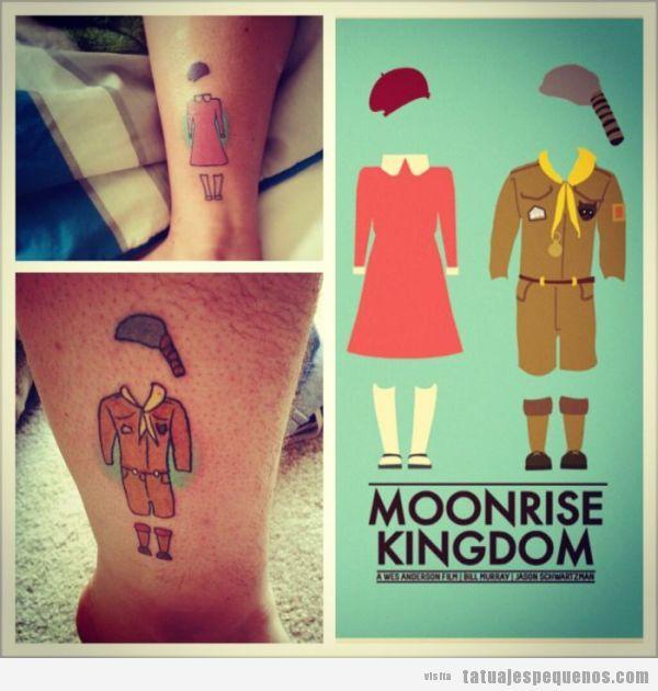 Tattoo pequeño original película Moonrise Kingdom
