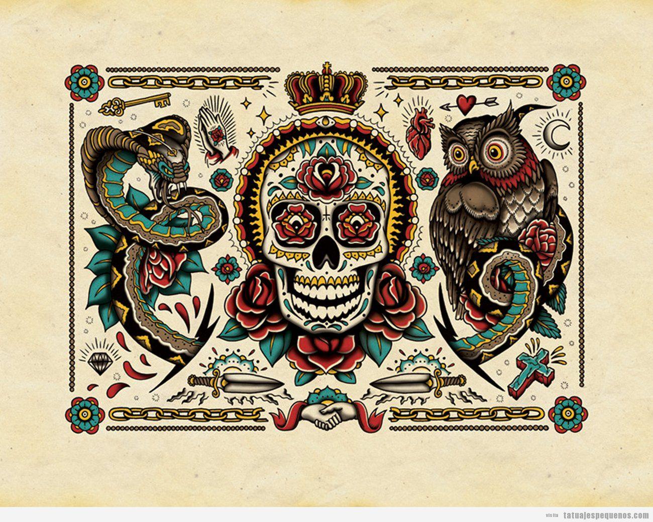 Libro para colorear tatuajes • Tatuajes pequeños