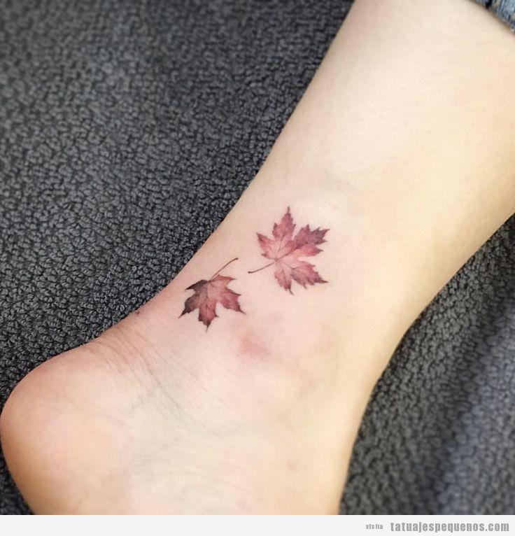 Tatuajes Pequeños De Bonitas Y Delicadas Hojas Tatuajes Pequeños
