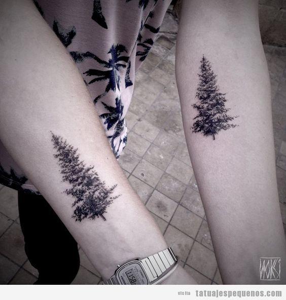 Tatuajes Pequeños De Abetos Para Hombre Y Mujer Tatuajes Pequeños