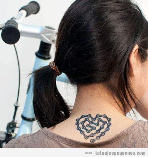 Tatuajes pequeños bicicleta para hombre y mujer 3