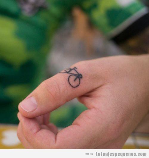 Tatuajes pequeños bicicleta para hombre y mujer