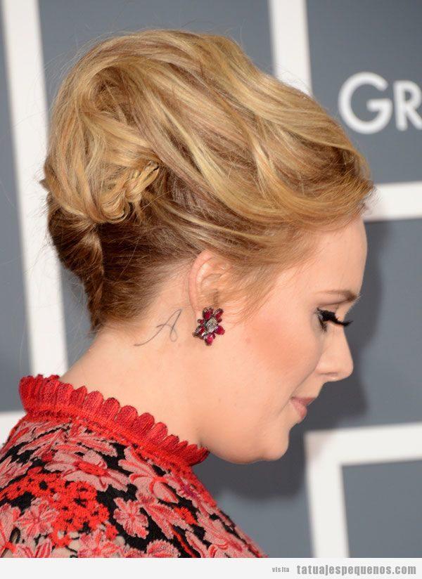 Tatuaje pequeño Adele