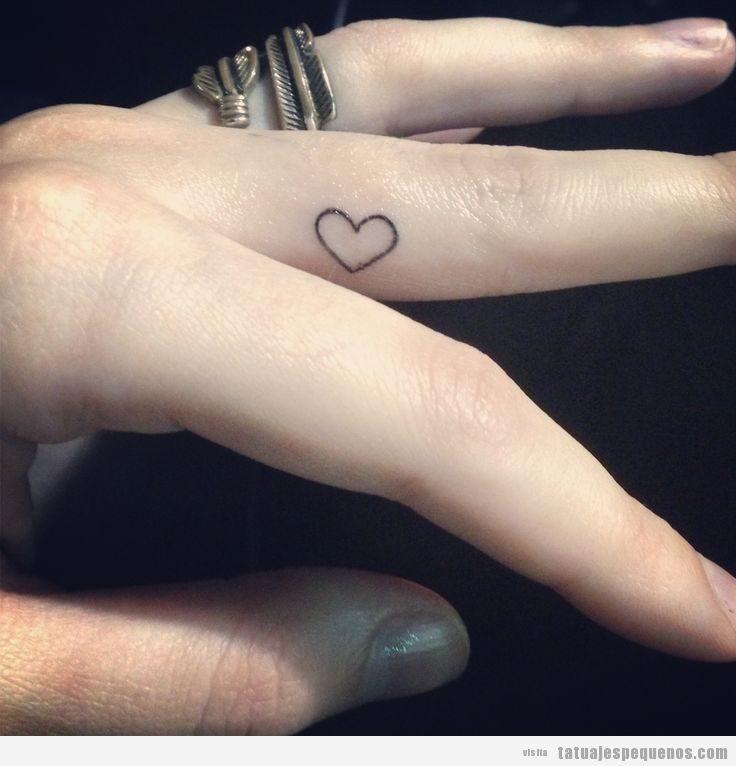 Tatuajes Minis Y Pequeños De Corazones Para Hombre Mujer Y Parejas