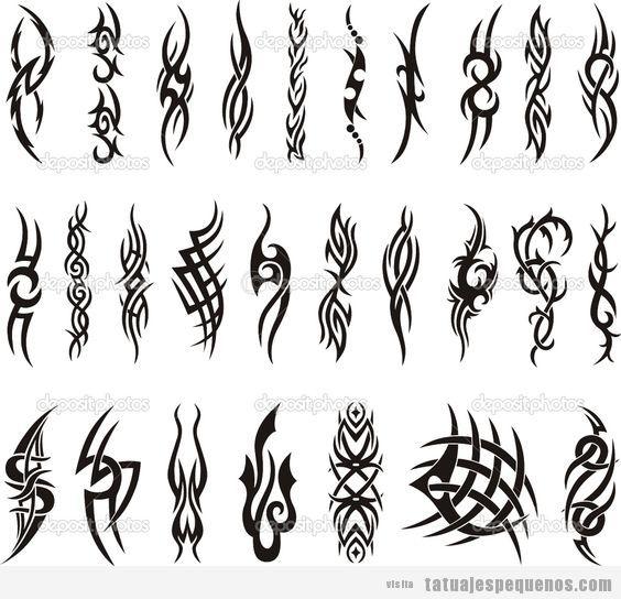 Plantillas para tatuajes tatuajes peque os - Dibujos tribales para tatuar ...