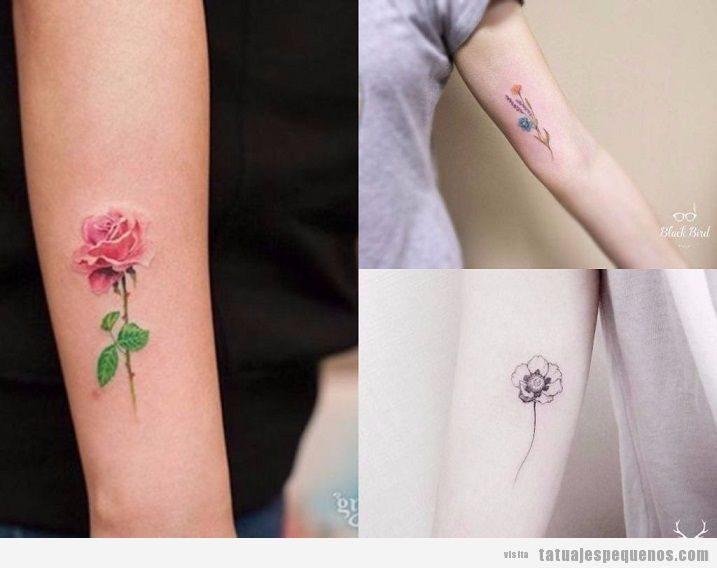 Tatuajes pequeños de flores: + 25 delicados diseños para decorar tu piel