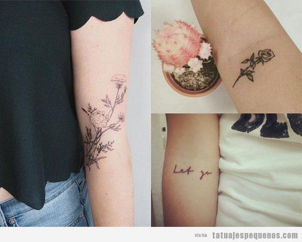 Tatuajes pequeños en el brazo interior