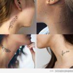 Tatuajes pequeños en el cuello para mujer: 20 diseños atrevidos pero sutiles