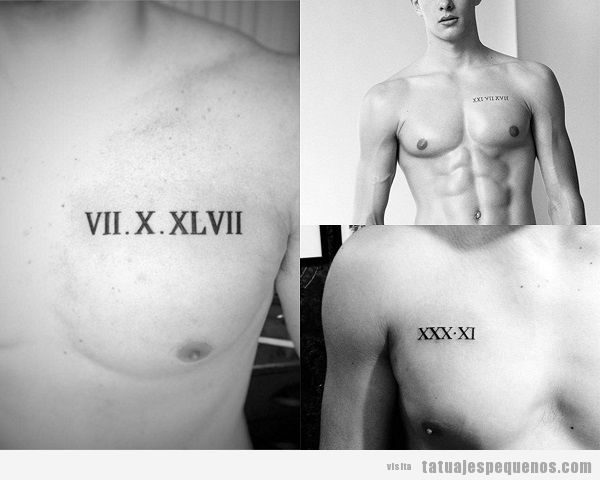 tatuajes fecha pecho