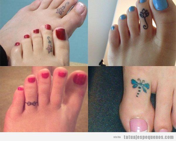 Tatuajes pequeños en un dedo del pie