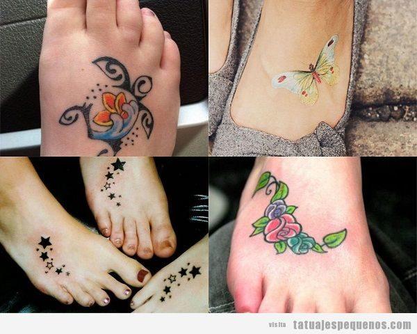 Tatuajes pequeños en el empeine