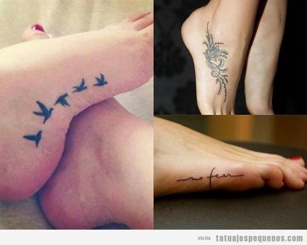 Tatuajes pequeños en el lateral del pie