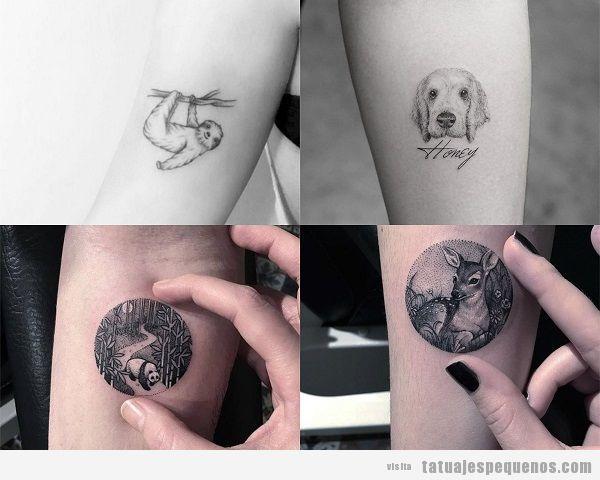 Tatuajes pequeños en el antebrazo para mujer animales 2