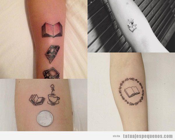 Tatuajes pequeños en el antebrazo para mujer libros