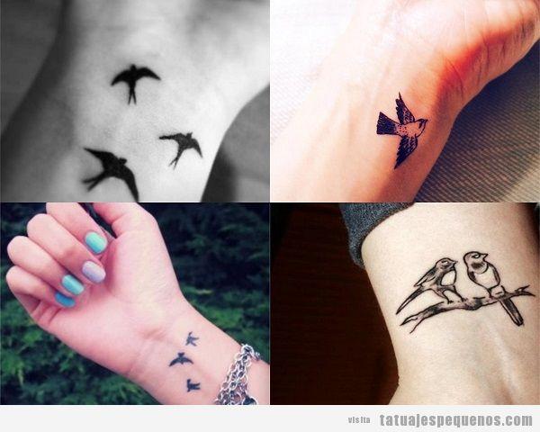 35 Tatuajes Pequenos De Pajaros Que Vuelan Sobre Tu Piel Tatuajes - Tatuajes-pequeos-para-muecas