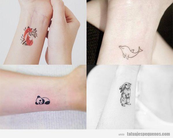 Tatuajes Pequeños de Animales: 25 Diseños Súper Bonitos y Tiernos 🐶🐱 🐇🐦🦊