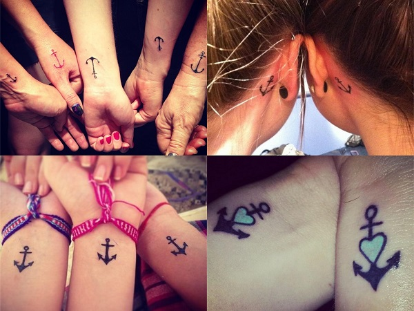 Tatuajes pequeños para amigas, anclas