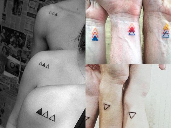 Tatuajes pequeños para amigas, triángulos