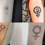 Tatuajes pequeños con significado: diseños con el símbolo de la mujer o de Venus ♀