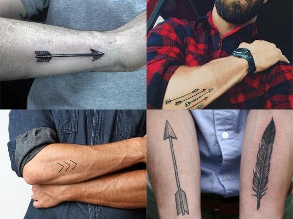 Tatuajes hipster para hombre, flechas