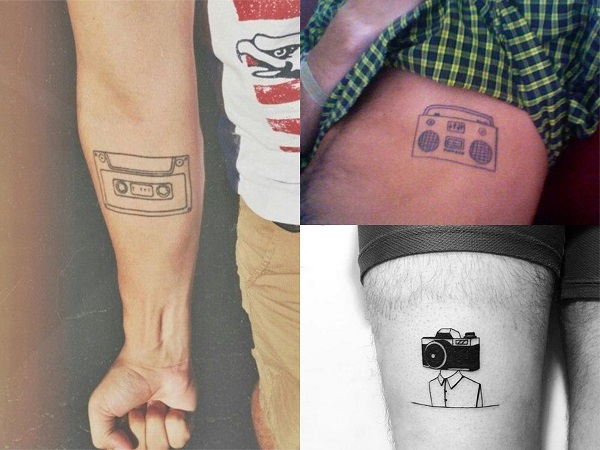 Tatuajes hipster para hombre, objetos vintage