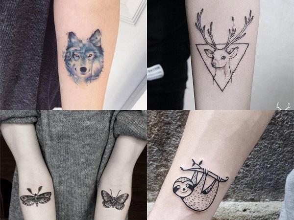 Tatuajes hipster para mujer, animales