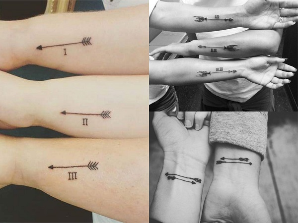Tatuajes pequeños hermanos, flechas 2