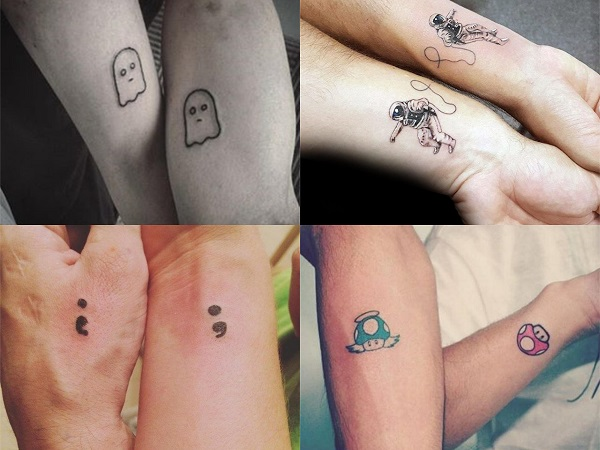 Tatuajes pequeños hermanos originales