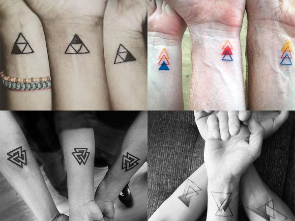 Tatuajes pequeños hermanos, triángulos 2