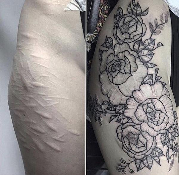 Tatuajes tapar cicatrices en el brazo 4