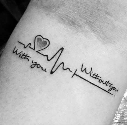 Tatuajes pequeños con frases de amor 9