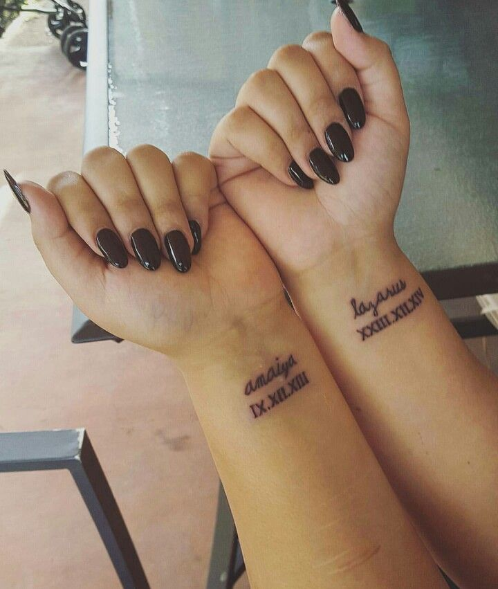 Tatuajes pequeños fecha cumpleaños