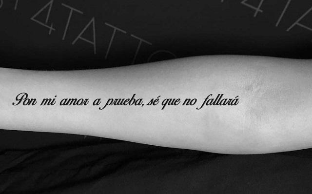 Tatuajes dedicatorias de amor 4