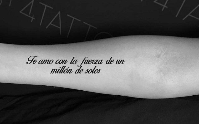 Tatuajes dedicatorias de amor 2