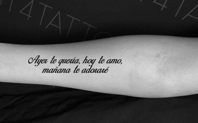 Tatuajes dedicatorias de amor