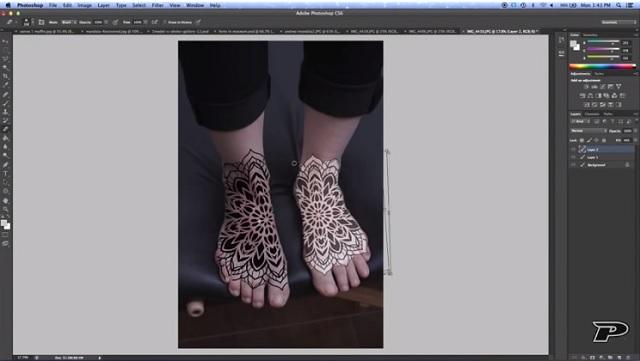 Diseñar tatuaje con tableta gráfica 3