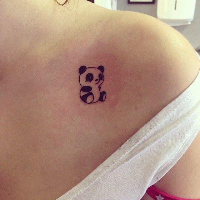 Tatuaje panda hombro 2