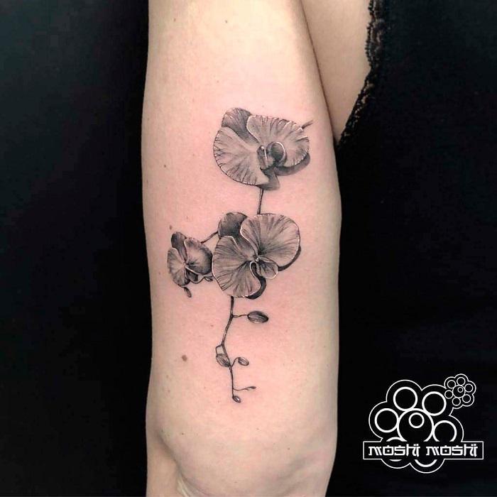 Tatuaje orquídea