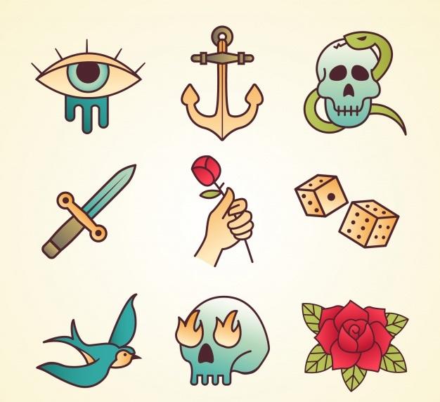 Tatuajes sencillos old school