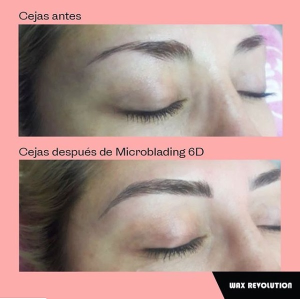 Antes después microblading 6D cejas 4