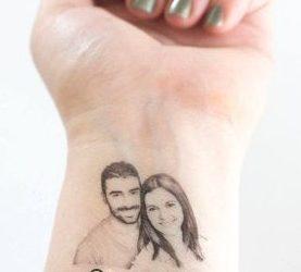 Tatuajes personalizados temporales para bodas