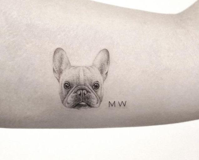 Precio de un tatuaje pequeño cara de un perro